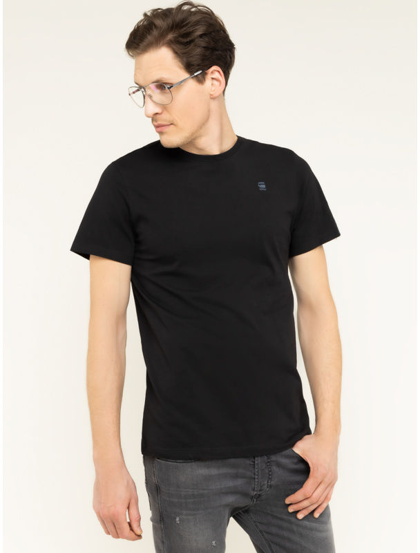 G-Star Raw T-Shirt Base-S D16411-336-6484 Czarny Regular Fit