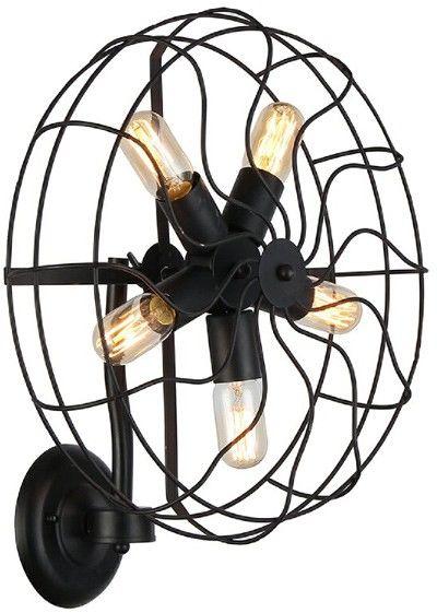 Kinkiet Fan AZ1349 AZzardo dekoracyjna oprawa w stylu design
