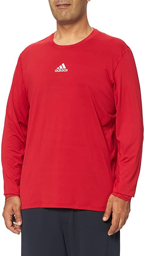 adidas Koszulka męska Techfit Compression Long Sleeve Tee czerwony czerwony XL
