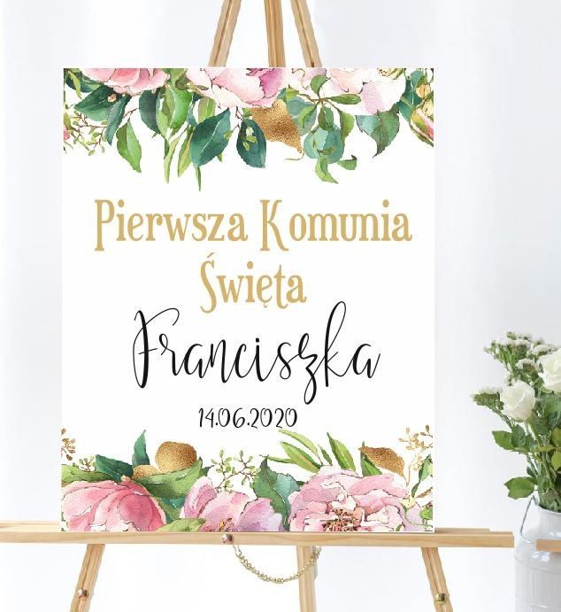 Plansza komunijna Piwonie