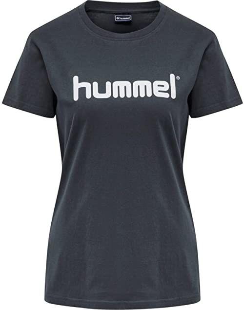 Hummel Damska koszulka Hmlgo Cotton Logo T-shirt Woman S/S niebieski (India Ink) M