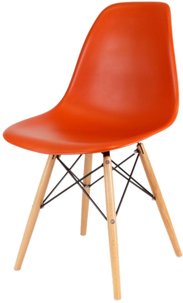Sk Design Kr012 Pomarańczowe Krzesło Buk