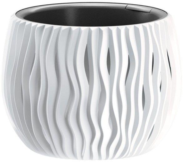 Doniczka z wkładem Sandy Bowl 18 cm biała