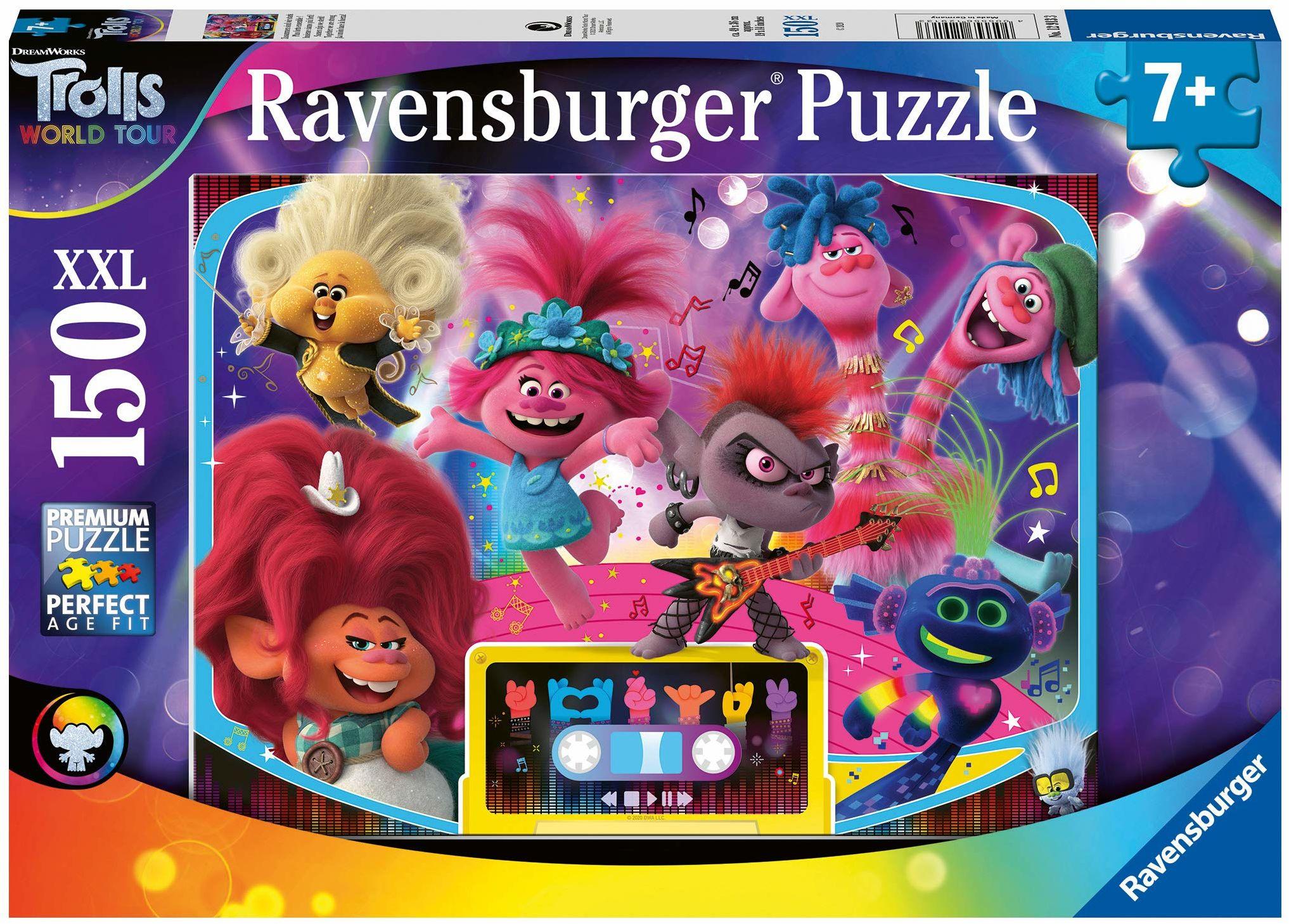 Ravensburger Trolls 2 World Tour 150 sztuk puzzle z bardzo dużymi elementami dla dzieci w wieku od 7 lat