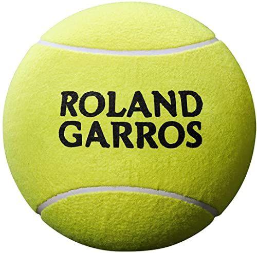Wilson Piłka tenisowa Jumbo, Rolland Garros, 5 cali, żółta, WRT1416YD