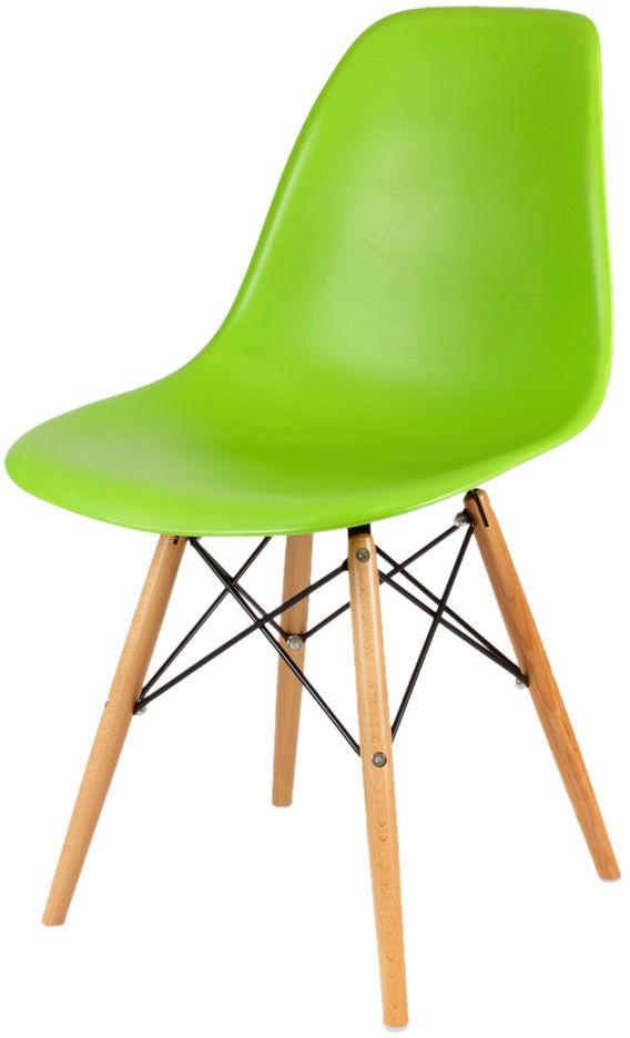 Sk Design Kr012 Zielone Krzesło Buk