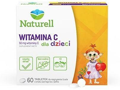 Naturell Witamina C dla dzieci 60 tabletek + Scenariusz zabawy Naturell