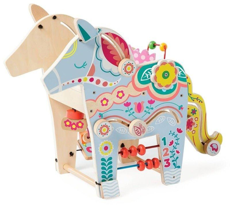 Zabawka edukacyjna Kolorowy jednorożec, 213880-Manhattan Toy, kostka motoryczna