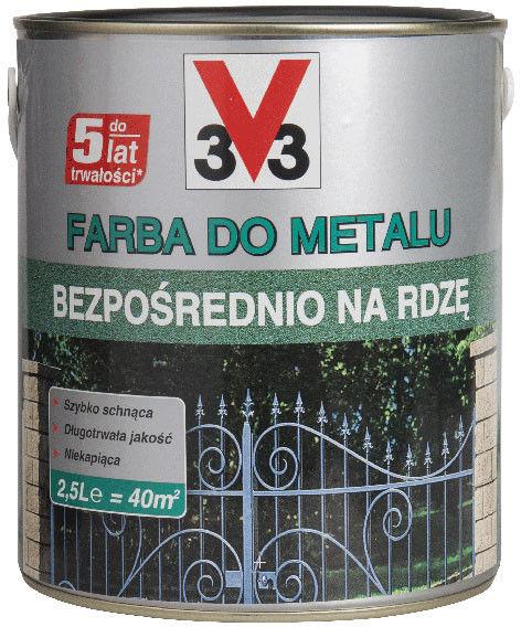 Farba V33 na rdzę ciemny grafitowy matowy 2,5 l