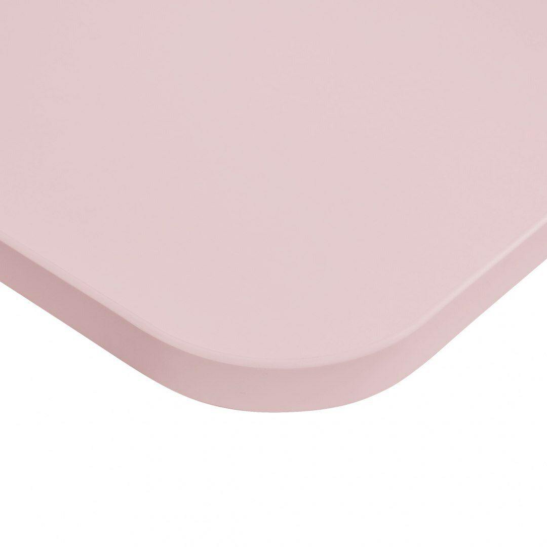 Blat biurka uniwersalny 158x80x1,8 cm Różowy