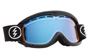okulary snowboardowe dziecięce ELECTRIC EG1K GLOSS BLACK/YELLOW BLUE CHROME