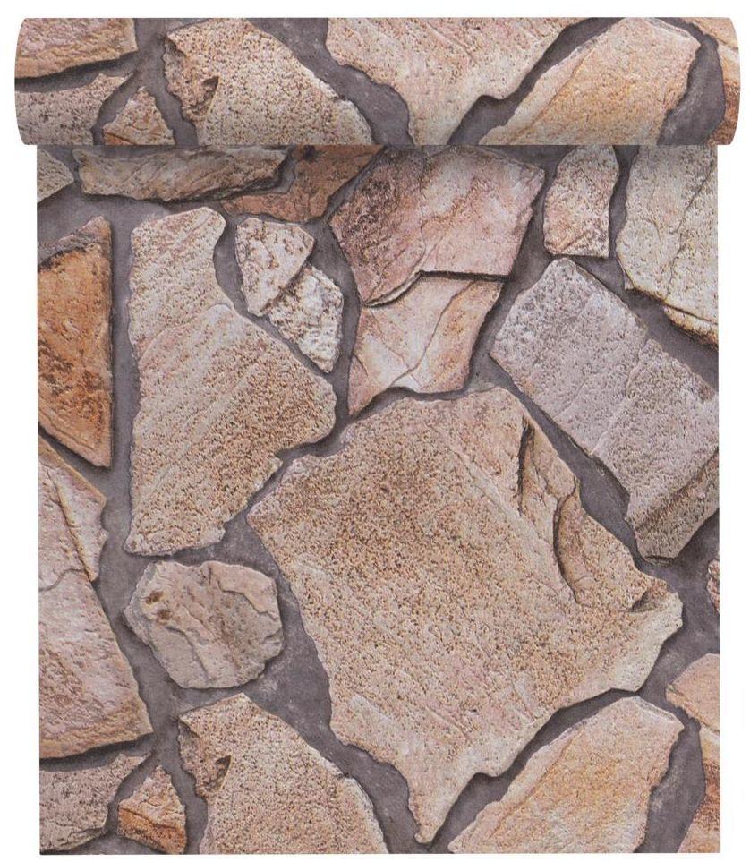 Tapeta 3D Kamienie brązowa imitacja kamienia winylowa na flizelinie
