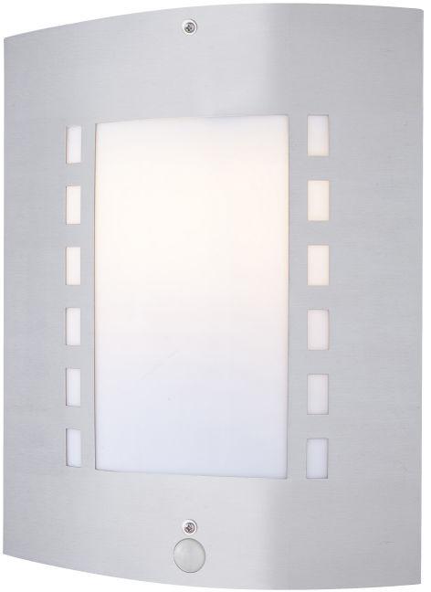 Globo ORLANDO 3156S kinkiet lampa ścienna zewnętrzna stal nierdzewna czujnik ruchu 1xE27 60W 30cm IP44