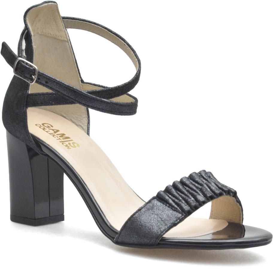 Sandały Gamis 3933/D19 Czarne zamsz