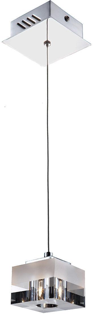 Italux lampa wisząca Cubric MD9216-1A szklana kostka