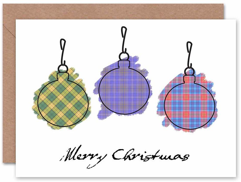 Wee Blue Coo Kartka bożonarodzeniowa Boże Narodzenie marieszka drzewo tatan prezent