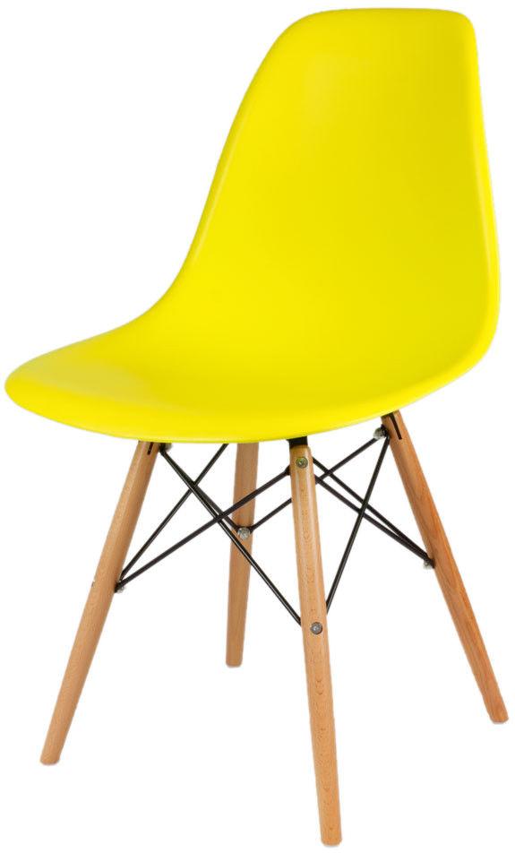 Sk Design Kr012 Żółte Krzesło Buk