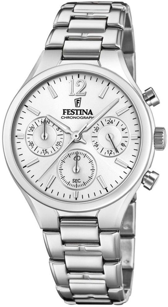 Zegarek Festina F20391-1 Boyfriend Chronograph - CENA DO NEGOCJACJI - DOSTAWA DHL GRATIS, KUPUJ BEZ RYZYKA - 100 dni na zwrot, możliwość wygrawerowania dowolnego tekstu.