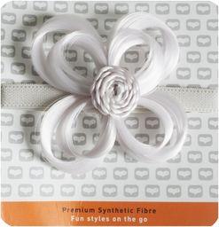 Love Hair Extensions Kwiaty na elastycznej opasce na głowę, kolor biały, 1 opakowanie (1 x 1 sztuka)