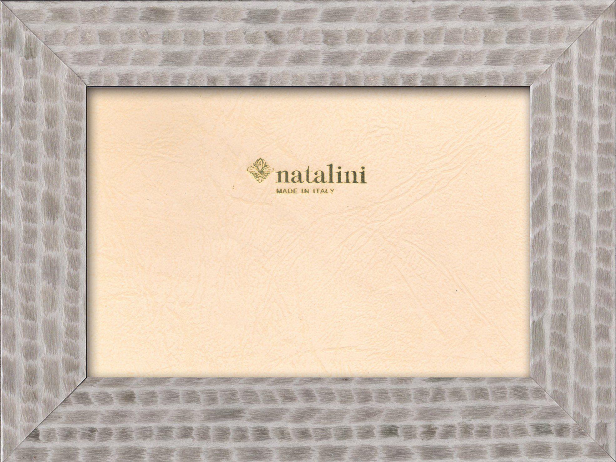 Natalini Marquetry ramka na zdjęcia wyprodukowana we Włoszech, tulipan, szara, 10 cm x 15 cm