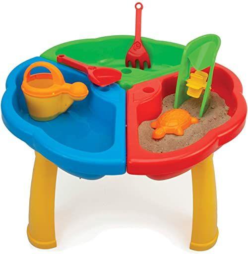 WADER 72000 6-częściowy stół do zabawy na piasku i wodę z konewką, szufelką, grabkami, młynkiem do piasku i formą piasku