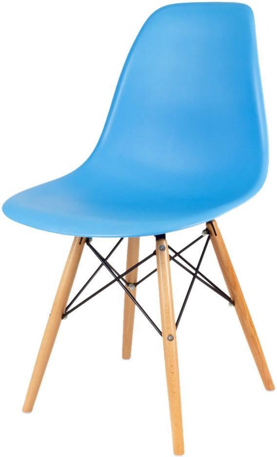 Sk Design Kr012 Niebieskie Krzesło Buk