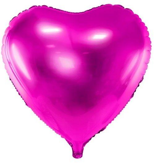 Balon foliowy Serce ciemnoróżowe 45cm 1 sztuka FB9M-006