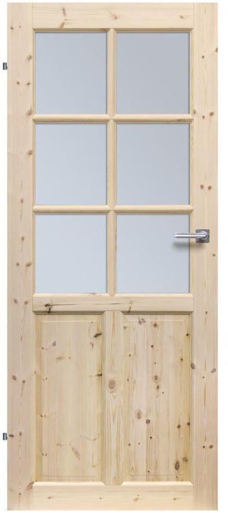 Skrzydło drzwiowe drewniane pokojowe Londyn Lux 80 Lewe Radex