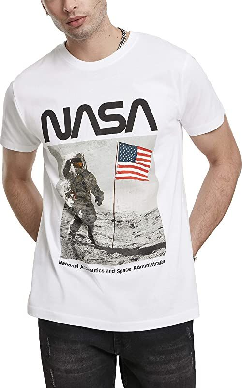 Mister Tee męski T-shirt Nasa Moon Man biały biały M