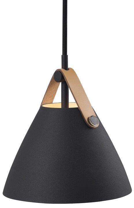 Lampa wisząca Strap 16 84303003 Nordlux czarna oprawa w nowoczesnym stylu