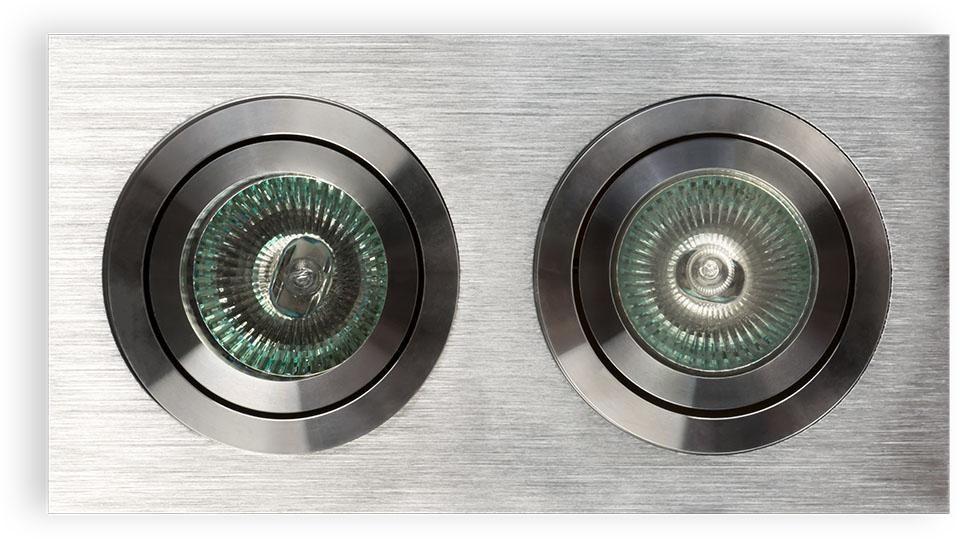 Oprawa halogenowa Fasto II Aluminio Orlicki Design minimalistyczna oprawa wpuszczana