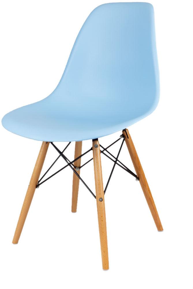 Sk Design Kr012 Jasnoniebieskie Krzesło Buk