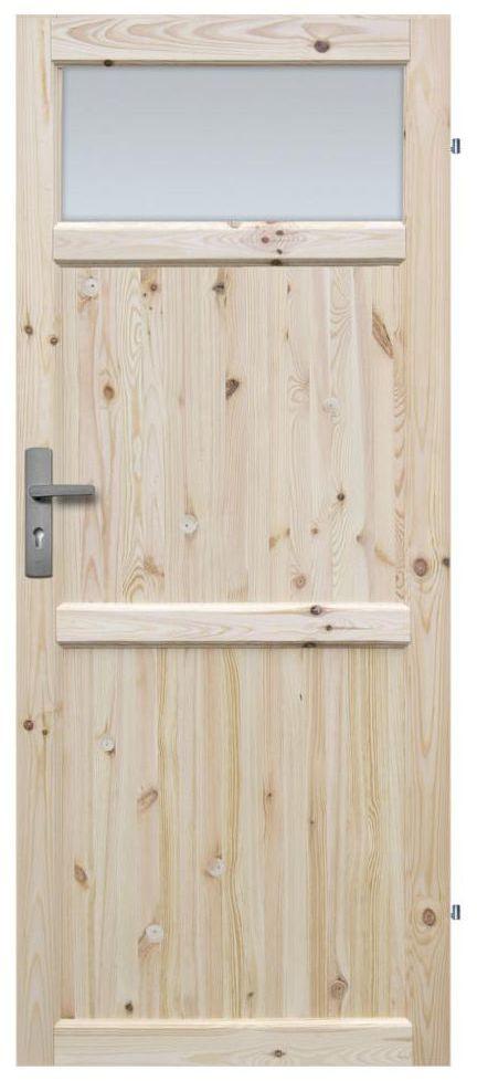 Skrzydło drzwiowe drewniane łazienkowe Eko 70 Prawe Radex
