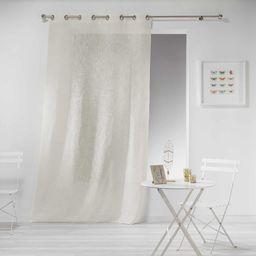Zasłona z oczkami, 140 x 240 cm, wygląd lnu, kolor naturalny