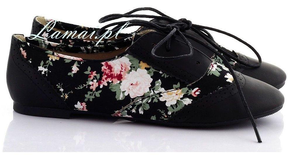 Czarne tenisówki w kwiatki t-6