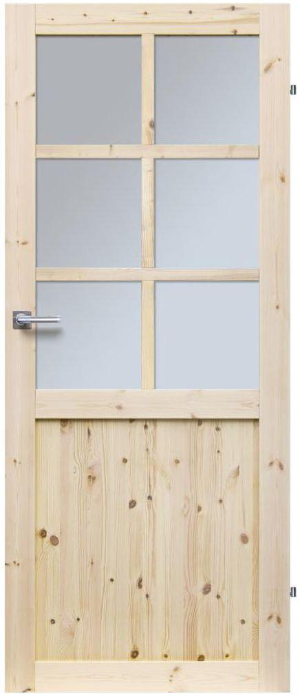 Skrzydło drzwiowe drewniane pokojowe Eko 80 Prawe Radex