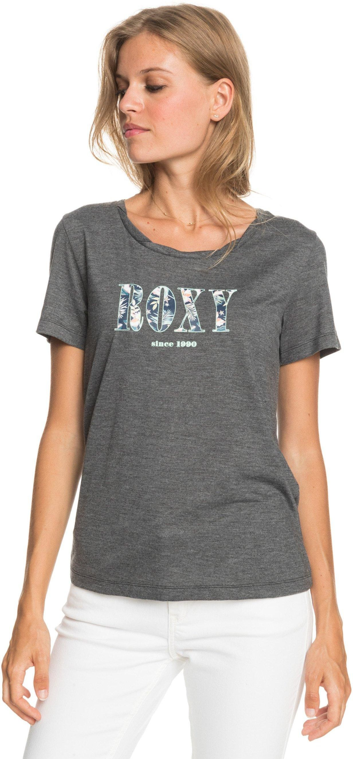 t-shirt damski ROXY CHASING THE SWELL B TEE Anthracite - KVJ0