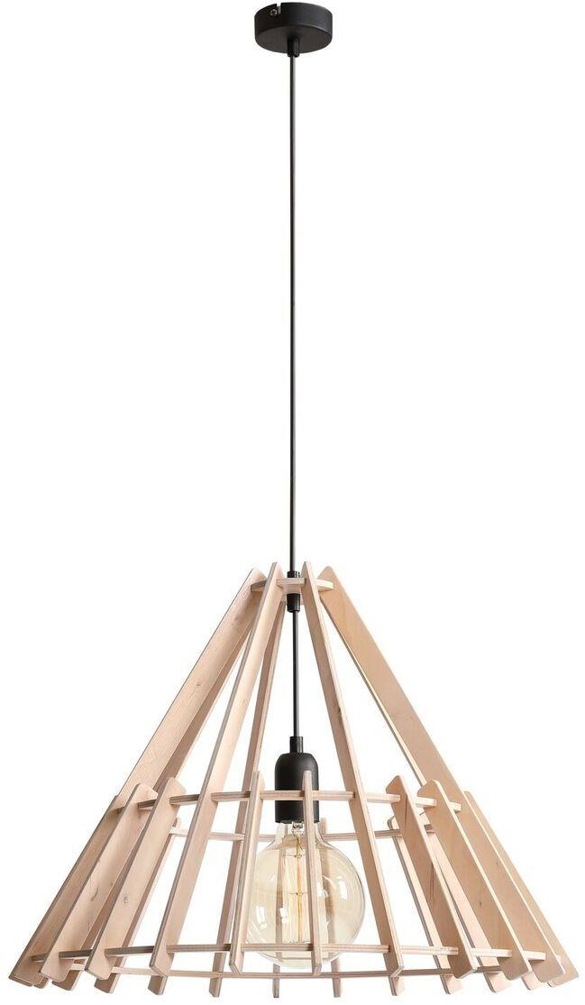 Lampa wisząca FERB 993G Aldex drewniana ażurowa oprawa w dekoracyjnym stylu