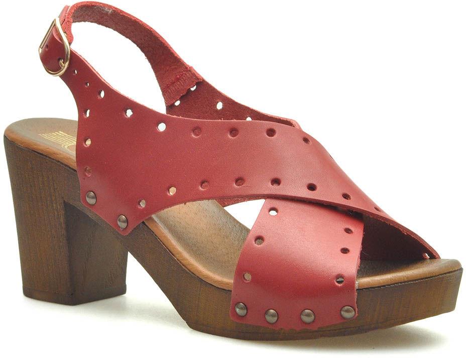 Sandały Lemar 40170 Czerwone lico