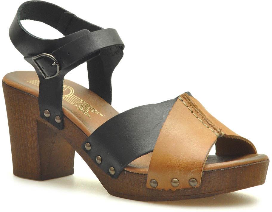 Sandały Lemar 40207 Czarne/Brązowe lico