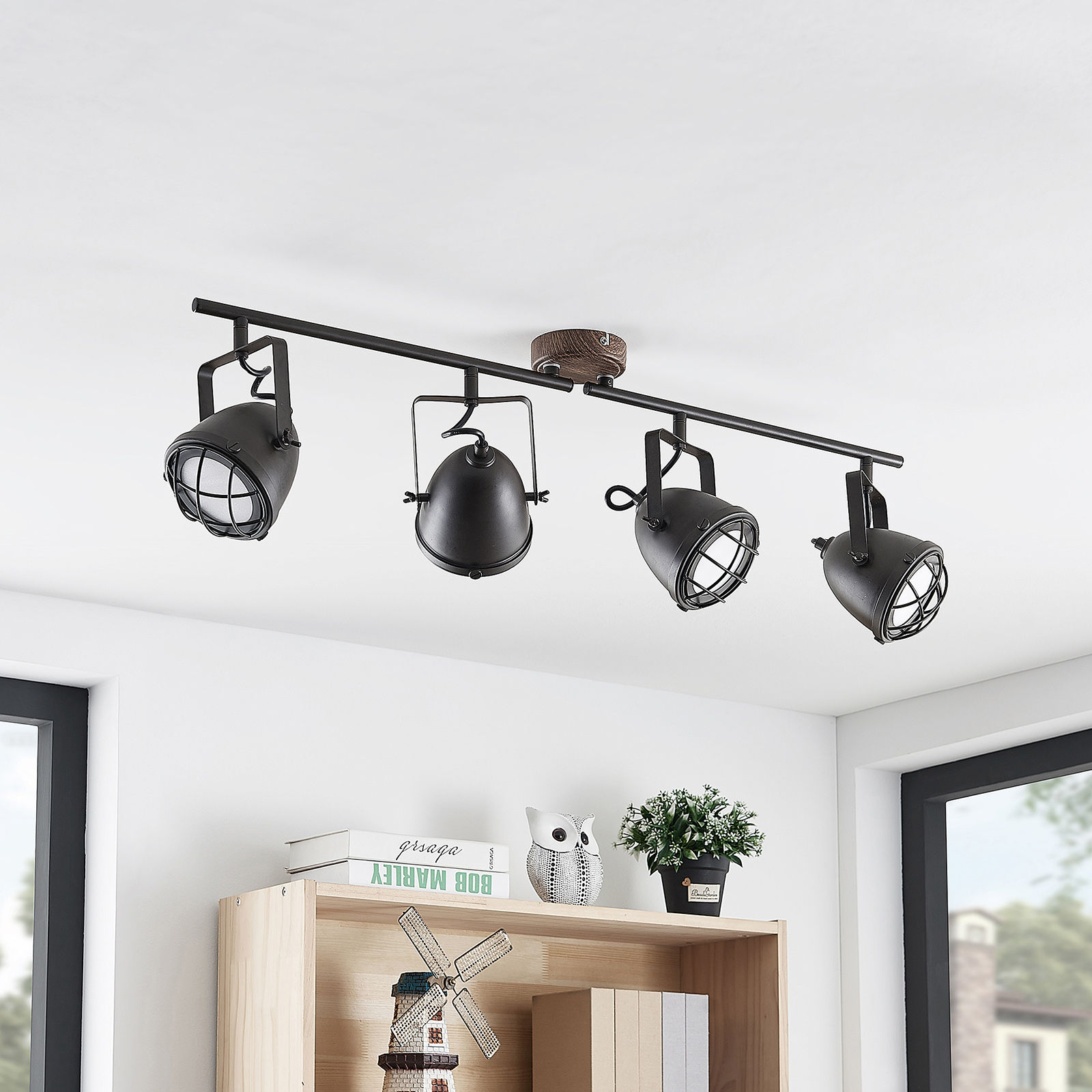 Lindby Adeon lampa sufitowa LED, 4-punktowa
