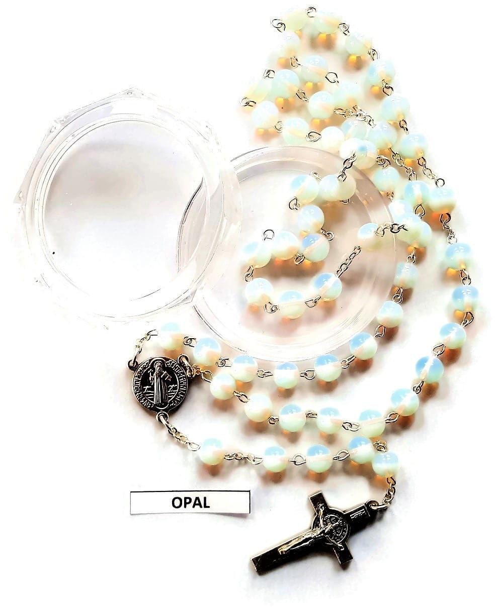 Różaniec z kamienia półszlachetnego, Opal