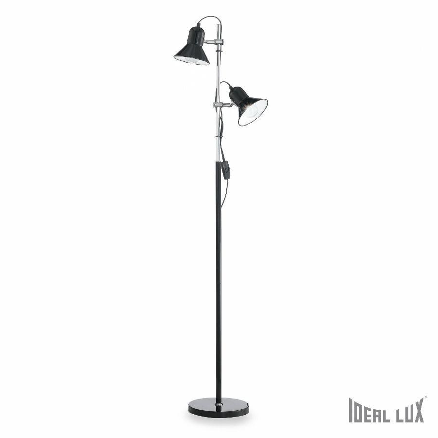 POLLY PT2 Black, Silver, Argento Lampa stojąca