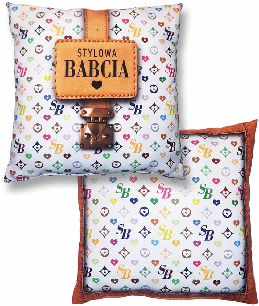 Poduszka dekoracyjna z napisem Stylowa Babcia