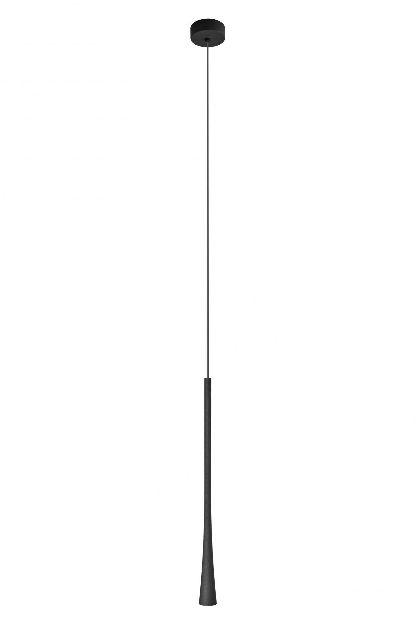 Lampa wisząca podłużna Enza 456627 Oxyled nowoczesna cienka lampa wisząca czarna