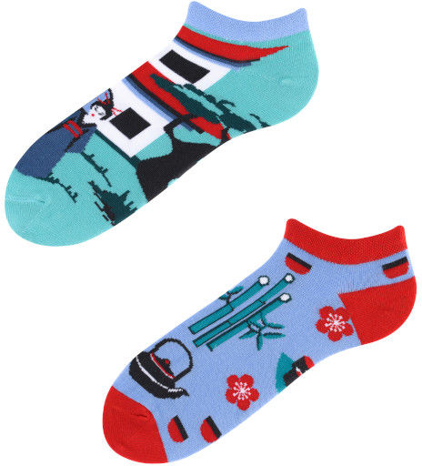 Stopki, Tanuki Low, Todo Socks, Japonia, Azja, Orient, Kolorowe