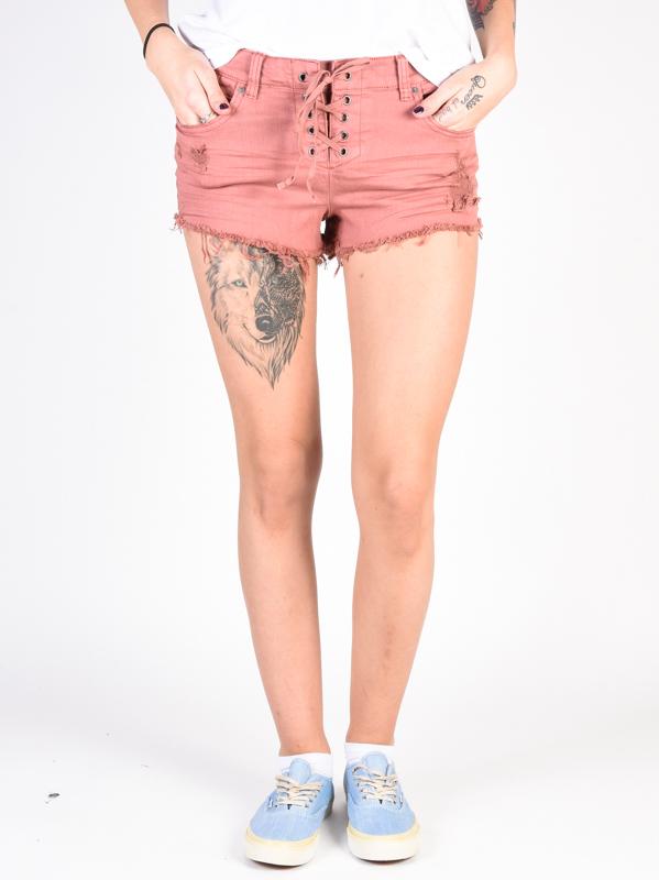 Billabong LITE HEARTED SUNBURNT damskie spodenki jeansowe