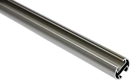 GARDINIA karnisz, rura metalowa z wewnętrznymi prowadnicami, seria Chicago, średnica 20 mm, długość 120 cm, wygląd stali szlachetnej