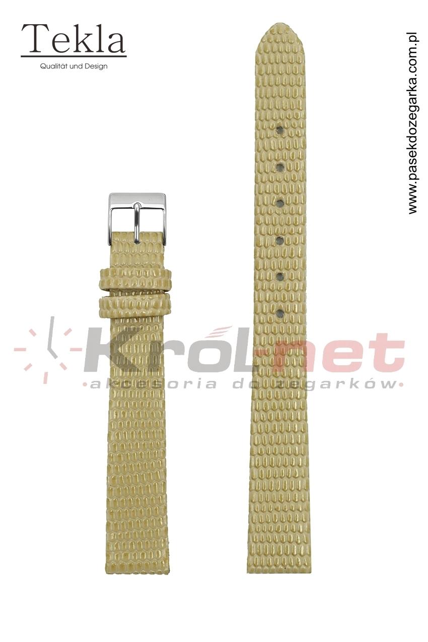 Pasek TK033BEZ/8 - beżowy, imitacja skóry jaszczurki