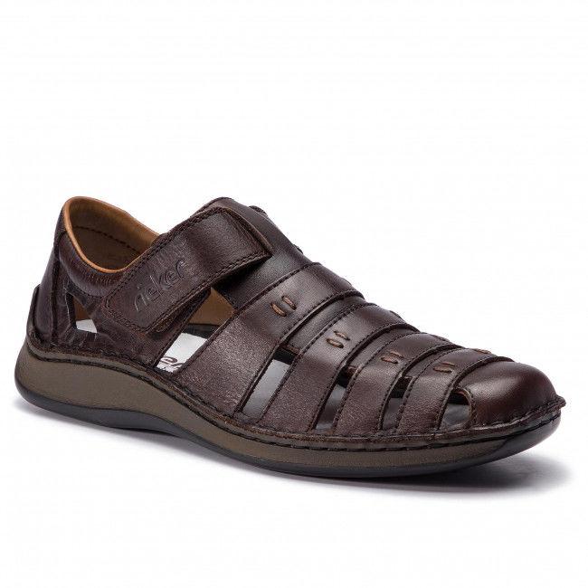 Sandały RIEKER - 05279-25 Braun